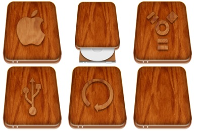 Wooden Drives Icons