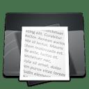Black Documents icon