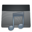 Black Folder Music icon