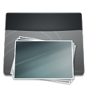Black Folder Pictures icon