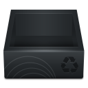 Black Recycle Bin icon