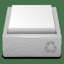 White Recycle Bin Full icon