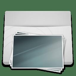 White Folder Pictures icon