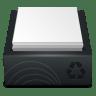 Black-Recycle-Bin-Full icon