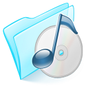 Folder-blue-musique icon