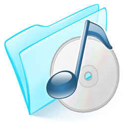 Folder blue musique icon