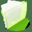 Folder green paper icon