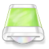 Drive-green-disk icon