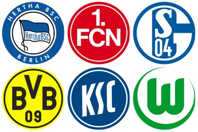 German Football Club Icons