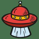 Alien-ship-beam icon