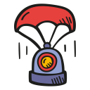 Landing space capsule icon