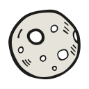 Moon-full-moon icon