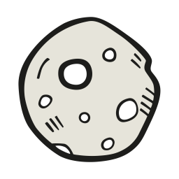 Moon full almost icon