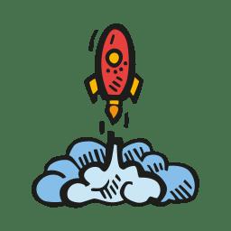 Rocket Launch Icon Free Space Iconset Good Stuff No Nonsense