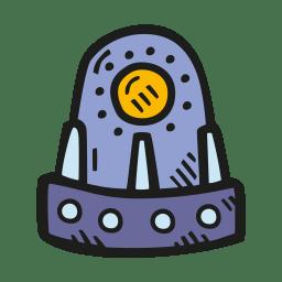 Space capsule icon