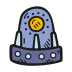 Space-capsule icon