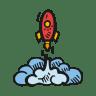 Rocket-launch icon