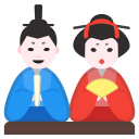 Japanese dolls icon