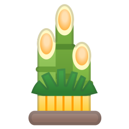 Pine decoration icon