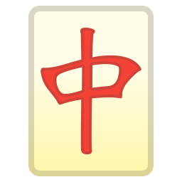Mahjong red dragon icon