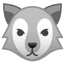 Wolf face icon