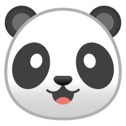 Panda Face Icon Noto Emoji Animals Nature Iconset Google