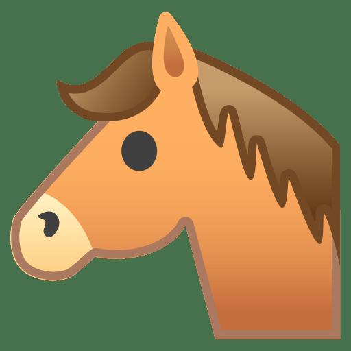 Horse face icon