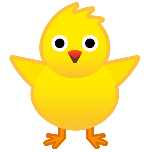 Front facing baby chick icon