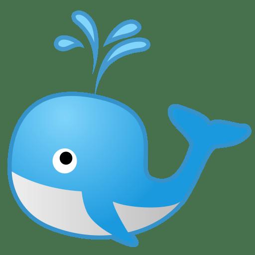 Spouting whale icon