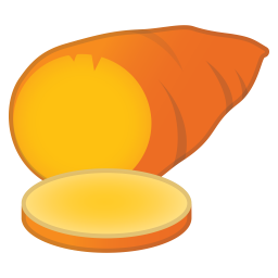 Roasted sweet potato icon