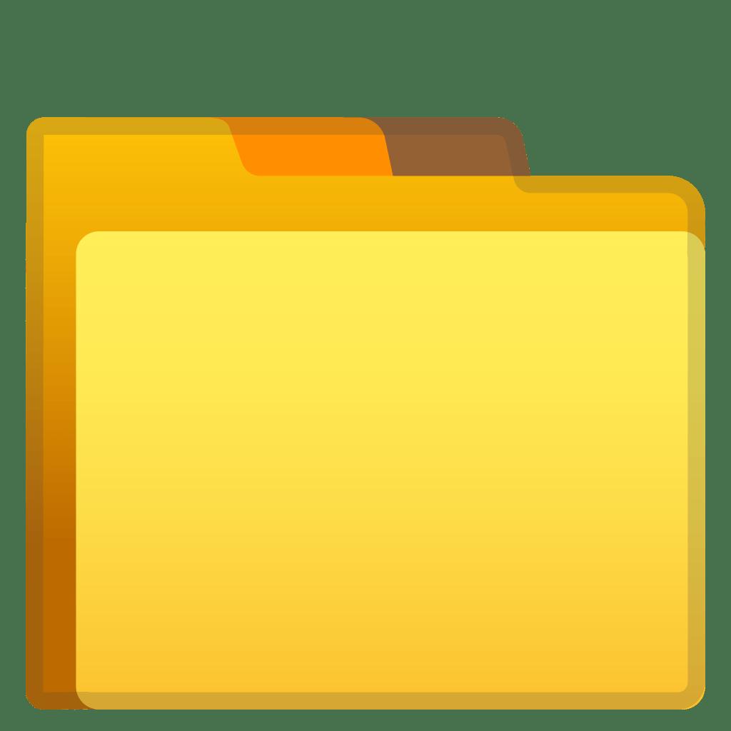 File folder Icon | Noto Emoji Objects Iconset | Google