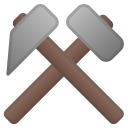 Hammer and pick icon