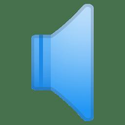 Speaker low volume icon