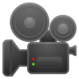 Movie camera icon