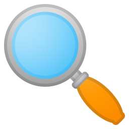 Magnifying Glass Tilted Left Icon Noto Emoji Objects Iconset Google