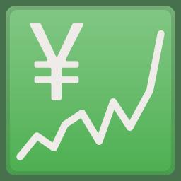Chart Increasing With Yen Icon Noto Emoji Objects Iconset Google