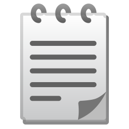 Spiral notepad icon