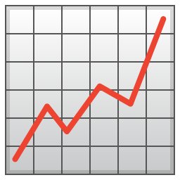 Chart increasing icon