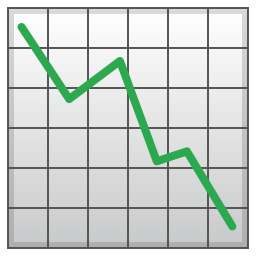 Chart decreasing icon