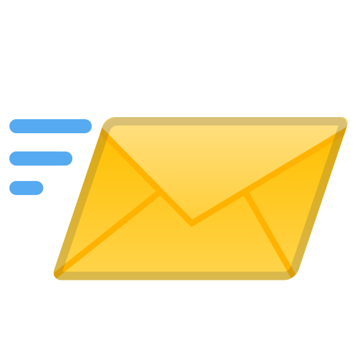 Incoming envelope icon
