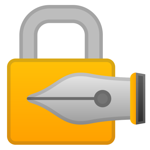 62948-locked-with-pen icon