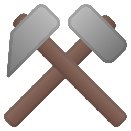 62957-hammer-and-pick icon