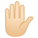 Raised hand light skin tone icon