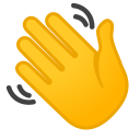 Waving hand icon