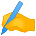 Writing hand icon