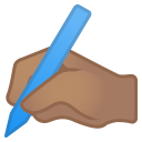 Writing hand medium skin tone icon