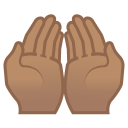 Palms up together medium skin tone icon