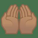 Palms up together medium skin tone icon