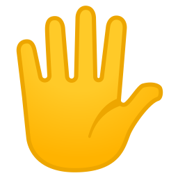 Hand with fingers splayed icon