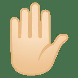 Raised hand light skin tone icon